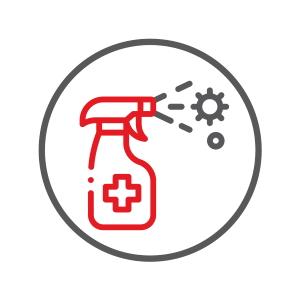 Icon Branchengruppe Desinfektion und Hygiene