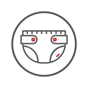 Icon Branchengruppe saugende Inkontinenz